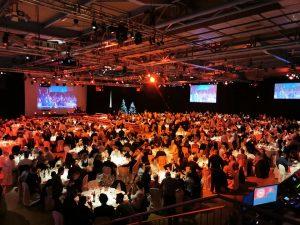 Cena di gala per 1.500 persone